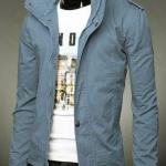 เสื้อกันหนาวผู้ชาย เสื้อคลุมผู้ชายแขนยาว สไตล์ แจ็คเก็ตยีนส์ สไตล์ คาวบอย Jacket สีฟ้า แบบเท่ ราคาถูก no 387798_2