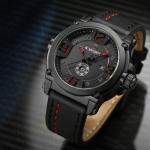 นาฬิกาข้อมือ ผู้ชาย นาฬิกาสายหนัง แบบมีระบบบอกวันที่ อัตโนมัติ ดีไซน์ แบบสปอร์ต แต่งสีตะเข็บแบบเท่ ๆ 924990