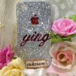 เคสไอโฟนสลักชื่อเจ้าของสุดหรู สั่งทำเป็นของขวัญ Case iphone 5s crystal ติดคริสตัล รุ่นพิเศษใส่ชื่อเจ้าได้