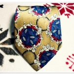 เนคไท ผ้าไหมแท้ สำหรับผู้ชาย สีทอง Viva paris N002