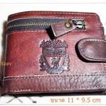 กระเป๋าสตางค์ หนังแท้ Liverpool สีน้ำตาล L003