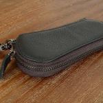 กระเป๋าใส่พวงกุญแจ กระเป๋าหนัง ซิปรอบ ใส่กุญแจ บ้าน กุญแจ รถยนต์ กระเป๋าหนัง ใส่พวงกุญแจ รีโมท แบบสวย สีดำ สีน้ำตาล 266157