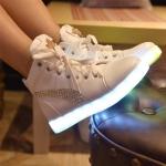 รองเท้า Simulation LED USB LED หุ้มข้อ
