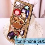 เคส iPhone 5s 5 5g 4s 4 4g เคส 3D ติด คริสตัล Rhinestone เพชรเม็ดใหญ่ หลายสี ลาย นกฮูก เคสยอดฮิต เพิ่มความหรู ให้โทรศัพท์ 739037