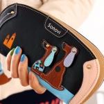 กระเป๋าสตางค์ผู้หญิง กระเป๋าสตางค์ใบยาว ทรงโค้ง ดีไซน์ใหม่ แต่งโลโก้ รูปสุนัขคู่ กระเป๋าสตางค์วัยรุ่น เกาหลี กำลังฮิต สีดำ 560339_2