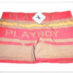 กางเกงในชาย บ๊อกเซอร์ Playboy แดงน้ำตาล A015