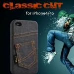 เคส iPhone 4 4s เคส ยีนส์ สไตล์ Hipster ดีไซน์ จาก ประเทศอังกฤษ เคสยีนส์ เท่ ๆ สี ดำ ส้ม ชมพู แดง 983388