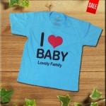เสื้อเด็ก I Love DAD MOM .สำหรับครอบครัวลูกสอง...เพิ่มได้จ้า
