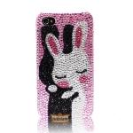 เคสไอโฟน 5s น่ารักสำหรับคู่รัก Case iPhone 4s Crystal ประดับด้วยคริสตัลลายกระต่ายกอดกัน รุ่น Rabbit hug