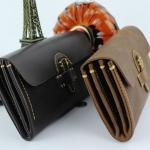 กระเป๋าสตางค์ผู้ชาย กระเป๋าสตางค์ ใบยาว หนังแท้ สีดำ และ สีน้ำตาล งานหนัง สไตล์ วินเทจ ดีไซน์ ตัดด้วยตะเข็บ ใส่บัตรได้เยอะ พร้อม ซิป 2 ช่อง 680148