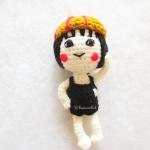พวงกุญแจมารูโกะถักไหมพรม ขนาด 4 นิ้ว maroko crochet keychain 4 inch