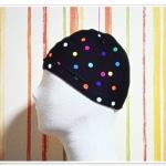 หมวกว่ายน้ำ แฟชั่น สีพื้น สีดำ ลายจุด สะท้อนแสง สวยเก๋ เท่สุด ๆ no sc013