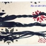 เข็มขัดหนังแท้ ถักเป็นเชือก สีดำ H010