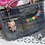 กระเป๋าสะพายไหล่+พวงกุญแจน่ารัก
