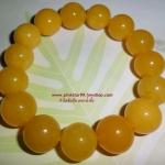 (ขายแล้วคะ่) A012 กำไลข้อมือ หยกน้ำผึ้งเหลือง (กลม)
