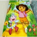 ผ้าห่มกำมะหยี่ เนื้อนุ่ม 5 ฟุต ลายการ์ตูนเด็กผู้หญิงในป่า D202