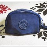 กระเป๋าใส่ของ ใส่เงิน ทรงครึ่งวงกลม สีน้ำเงิน KP901