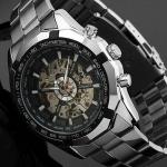 นาฬิกาข้อมือ โชว์กลไก นาฬิกาข้อมือผู้ชาย สาย Stainless steel เห็นกลไกการทำงานด้านใน ไม่ต้องใส่ถ่าน เข็มสะท้อนแสง สินค้าราคาพิเศษ no 1013276