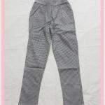 **สินค้าหมด bottom326 กางเกงแฟชั่นขายาว ผ้ายีนส์ยืด กระเป๋าข้าง เอวยางยืด ลายสก็อตสีขาวดำ