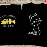 เสื้อคู่รัก แมว ก้างปลา น่ารักสุดๆ