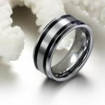 แหวนหมั้น แหวนแต่งงาน แหวนผู้ชาย ทังสเตน แท้ แหวนเกลี้ยงสีเงิน ไม่ลอกไม่ดำ ดีไซน์ เส้นตัดคาด ของขวัญสุดหรู 450966