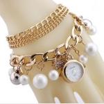 สร้อยข้อมือนาฬิกา ประดับคริสตัล เพชร รูปโบว์ ของขวัญให้แฟน สร้อยข้อมือสุดหรู ราคาถูก พร้อมกล่องใส่ฟรี no 8971669