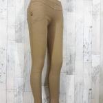 trousers465-สีกากี กางเกงขายาวทรงสกินนี่ รอบเอว 26-32 นิ้ว กระเป๋าข้างและหลัง ผ้ายีนส์ยืดเนื้อหนายืดได้ตามตัว