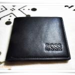 กระเป๋าสตางค์ผู้ชาย หนังแท้ Boss สีดำ ราคาถูก A305