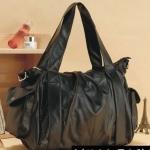 กระเป๋าใส่เสื้อผ้า กระเป๋าเดินทาง หนัง กระเป๋าใส่ของเที่ยว สีดำ ราคาถูก no 94684_1