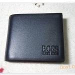กระเป๋าสตางค์ Boss หนังแท้ สีกรมอ่อน B12081