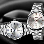นาฬิกาข้อมือ ผู้ชาย นาฬิกา สาย สแตนเลส แท้ เข็ม เรืองแสง มีระบบ วันที่ ดีไซน์ เรียบหรู สำหรับ นักบริหาร หนุ่มไฟแรง ของขวัญให้แฟน มีระดับ 193632