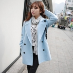 CLASSIC LIGHT BLUE COAT [ เสื้อโค้ท กันหนาว สีฟ้าอ่อน ] พร้อมส่ง