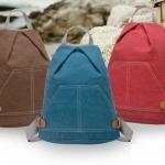 กระเป๋าเป้ กระเป๋าสะพายหลัง วัยรุ่น กระเป๋า ผ้าแคนวาส ผ้ายีนส์ ดีไซน์ เก๋ เป็น สามเหลี่ยม ขนาด ใส่ ipad ได้ ใส่หนังสือเรียน แบบสวย มีสไตล์ 318433