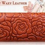 กระเป๋าสตางค์ ใบยาว ผู้หญิง กระเป๋าสตางค์หนังแท้ หนังวัวแท้ ซิปรอบ อัดลายดอกไม้ สุดหรู กระเป๋าสตางค์ ถือออกงานได้เลย แบบสวย 450658