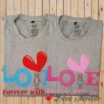 เสื้อยืดคู่รัก Love Forever with you