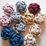 กุหลาบถักไหมพรม Rose Flowers Crochet