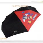 ร่มพับได้ ร่มกันแดด กันฝน Micky สีดำ พร้อมกระเป๋าใส่