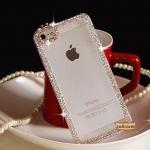 Case iPhone 5s เคสใสโชว์ สวยออกงานติดเพชรสุดอลังการ ไอโฟน 5s สีทอง สีเงิน (ID: A180)