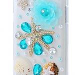 เคสโทรศัพท์ เคส Samsung Galaxy Note 2 N7100 เคส Hand made 3 D ธีม ชายหาด สีฟ้า สดใส แต่ง เปลือกหอย แสนหวาน ชายทะเล ฟินสุด ๆ 432420