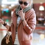 เสื้อกันหนาวแฟชั่น สีออกชมพูหม่นๆ ตามภาพ ทรงสวยผ้านิ่ม บุซับในกันลม พร้อมส่งจ้า