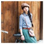 เสื้อเชิ้ตผ้าคอตตอนสไตล์ญี่ปุ่น