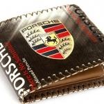 กระเป๋าสตางค์ผู้ชาย Porsche หนัง Pu แต่งตะเข็บรอบ ใส่บัตรได้เยอะ มีช่องใส่เหรียญ กระเป๋าสตางค์สไตล์นักแข่งรถ no 539948