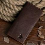กระเป๋าสตางค์ผู้ชาย กระเป๋าสตางค์ ใบยาว หนังแท้ สีน้ำตาล สไตล์ วินเทจ ทรงแบน ใส่บัตรได้เยอะ แข็งแรงทนทาน ของขวัญให้แฟน แบบมีระดับ 963078