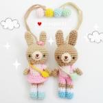 """ตุ๊กตาถัก กระต่ายคู่รัก 4 """""""