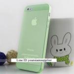 ซื้อ 1 แถม 1 Case ใส่ Iphone 5 5s แบบใส สีเขียว