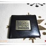 กระเป๋าสตางค์ lee สีดำป้ายเหล็ก L003