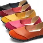 รองเท้าหุ้มส้น ผู้หญิง รองเท้าหนังแท้ รองเท้าผู้หญิง สีพื้น แบบเรียบ ๆ ใส่ทำงาน ออกงาน แบบสวย มีดีไซน์ 729845