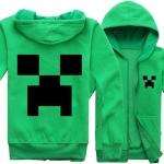 แจ็คเก็ตแขนยาว Hood minecraft green
