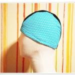 หมวกว่ายน้ำ แฟชั่น ลายจุดสีเขียว ตรงกลางสีดำ แบบเรียบ ใส่เรียน ได้สบาย ๆ ค่ะ no sc009