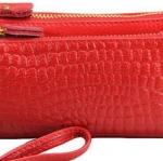 กระเป่าหนังแท้ ใส่โทรศัพท์ ใส่สตางค์ มี 2 ซิป ทนทาน ราคาถูก ใส่พวงกุญแจเล็ก ๆ กระเป๋าสตางค์ผู้หญิง สีแดง ดำ น้ำเงิน และ อีกหลายสี no 924713